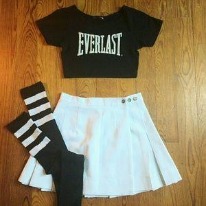 Vintage High Waist Tennis Skirt